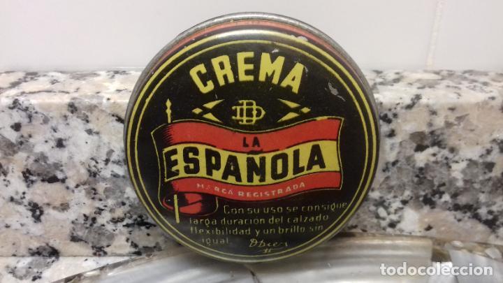ANTIGUA LATA DE CREMA LA ESPAÑOLA (Coleccionismo - Cajas y Cajitas Metálicas)