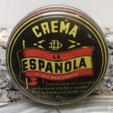 Cajas y cajitas metálicas: ANTIGUA LATA DE CREMA LA ESPAÑOLA. Lote 194906191