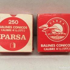 Cajas y cajitas metálicas: ANTIGUA CAJA DE PERDIGONES LLENA Y SIN EXTRENAR. Lote 194908483
