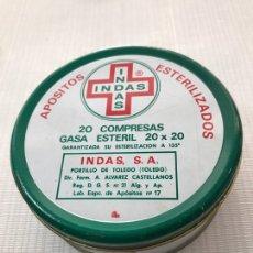 Cajas y cajitas metálicas: LATA CAJITA APOSITOS ESTERILIZADO INDAS TOLEDO. Lote 194930325
