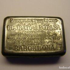 Cajas y cajitas metálicas: CAJITA DE PASTILLAS DEL LICEO, DE CLORATO DE POTASA, PRINCIPIOS SIGLO XX.. Lote 194939628