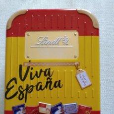 Cajas y cajitas metálicas: CAJA CHOCOLATE SUIZO. Lote 194939801