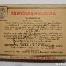 Cajas y cajitas metálicas: CAJA TRIFOSFANEURINA CON AMPOLLAS. Lote 194971645