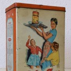 Cajas y cajitas metálicas: BOTE ANTIGUO COLA CAO. Lote 195036215