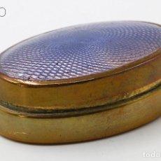 Cajas y cajitas metálicas: ESMALTE GUILLOCHE. Lote 195097658