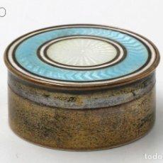 Cajas y cajitas metálicas: ESMALTE GUILLOCHE. Lote 195097731