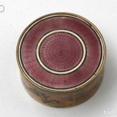 Cajas y cajitas metálicas: ESMALTE GUILLOCHE. Lote 195097883