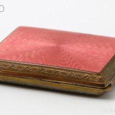 Cajas y cajitas metálicas: ESMALTE GUILLOCHE. Lote 195098486
