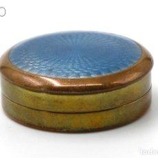 Cajas y cajitas metálicas: ESMALTE GUILLOCHE. Lote 195098721