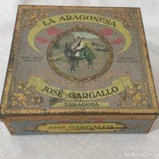 Cajas y cajitas metálicas: LATA ORIGINAL LA ARAGONESA JOSÉ GARGALLO ZARAGOZA - ÚNICA. Lote 195104708