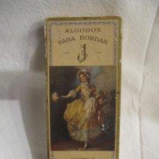 Cajas y cajitas metálicas: CAJA DE CARTON - ALGODON PARA BORDAR SUCESORES DE RAMON JULIÁ BARCELONA - . Lote 195181280