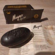 Cajas y cajitas metálicas: PASTILLA JABON MAGNO MUY ANTIGUA. Lote 195314745
