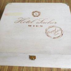 Cajas y cajitas metálicas: CAJA MADERA -- HOTEL SANCHE WIEN (VIENA) . Lote 195329941