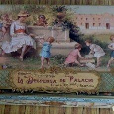 Cajas y cajitas metálicas: CAJA CHAPA - LA DESPENSA DE PALACIO - DULCES - LA PAPA PARTE A RELIEVE - LA DE LA FOTO. Lote 195330118