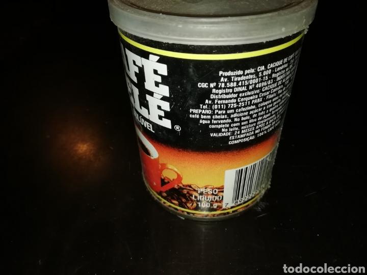 Cajas y cajitas metálicas: Lata de cafe pele soluble rio de Janeiro brasil 1993 - Foto 2 - 195334770