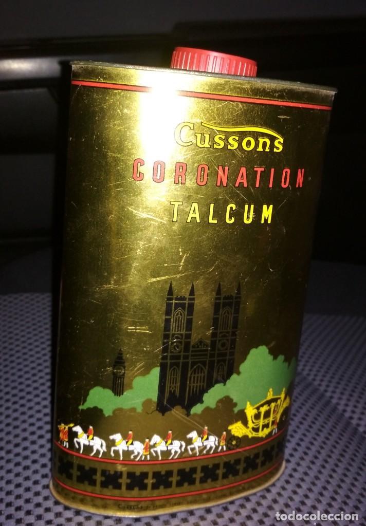Cajas y cajitas metálicas: Lote dos latas de Polvos de Talco. Cussons Coronation y Orchid - Foto 2 - 195336331
