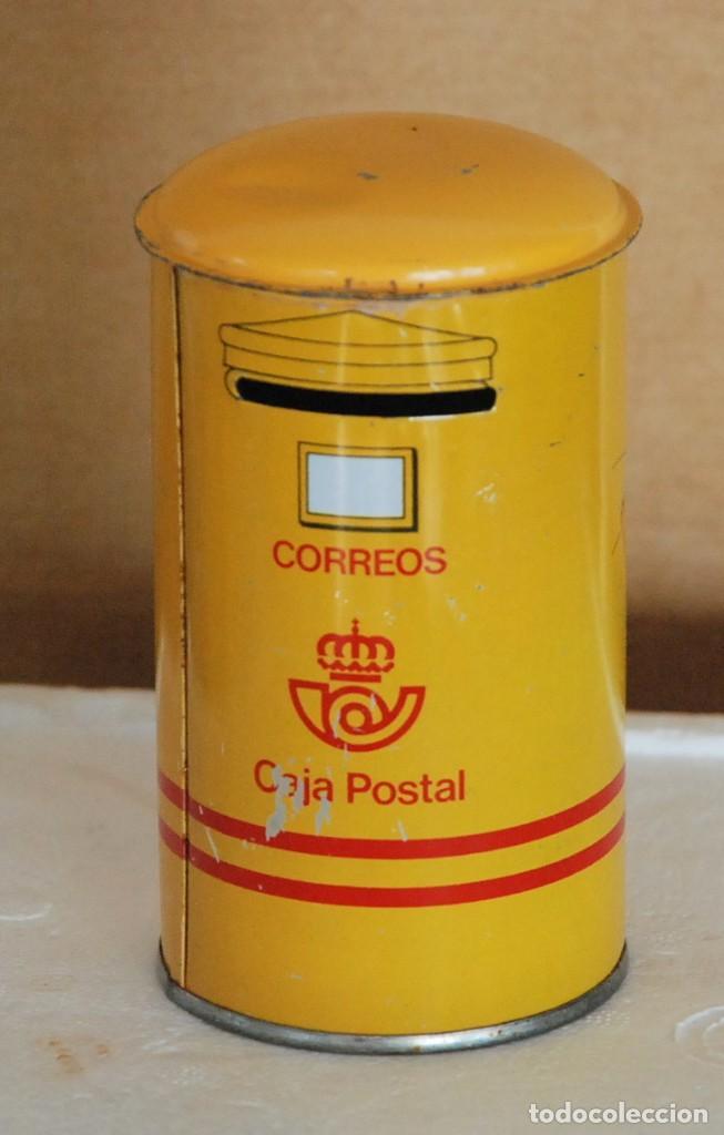 HUCHA METALICA DE CORREOS , CAJA POSTAL (Coleccionismo - Cajas y Cajitas Metálicas)