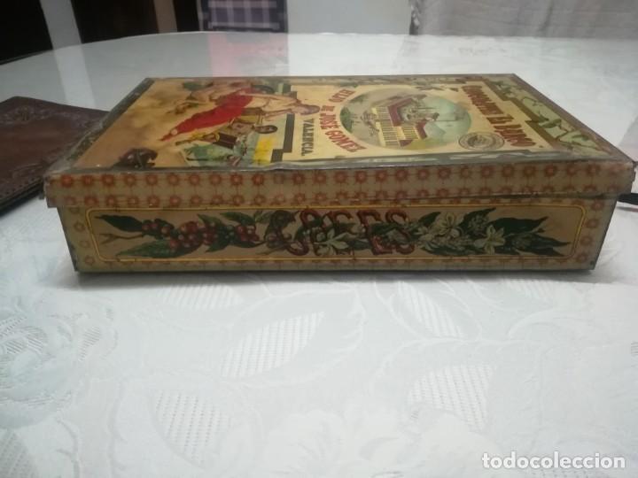 Cajas y cajitas metálicas: RARA LATA LITOGRAFIADA DE CHOCOLATES EL BARCO HIJO DE JOSE GOMEZ MIREN FOTOS - Foto 4 - 195341768