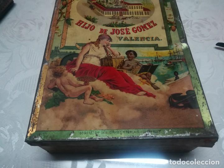Cajas y cajitas metálicas: RARA LATA LITOGRAFIADA DE CHOCOLATES EL BARCO HIJO DE JOSE GOMEZ MIREN FOTOS - Foto 7 - 195341768