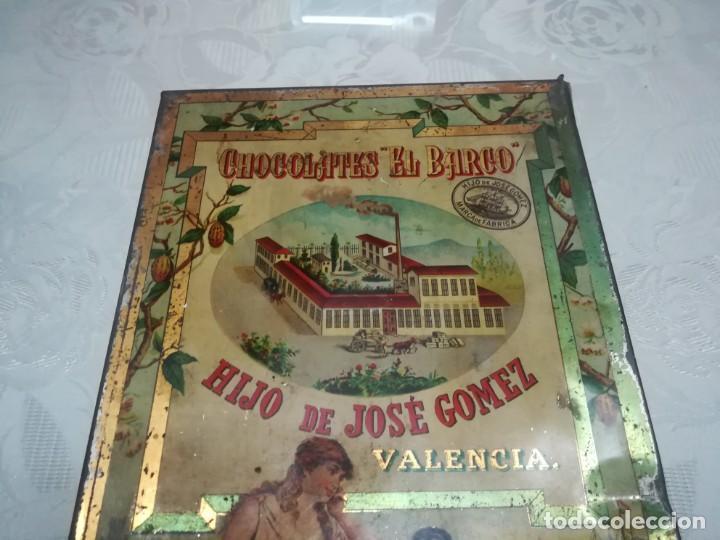 Cajas y cajitas metálicas: RARA LATA LITOGRAFIADA DE CHOCOLATES EL BARCO HIJO DE JOSE GOMEZ MIREN FOTOS - Foto 9 - 195341768
