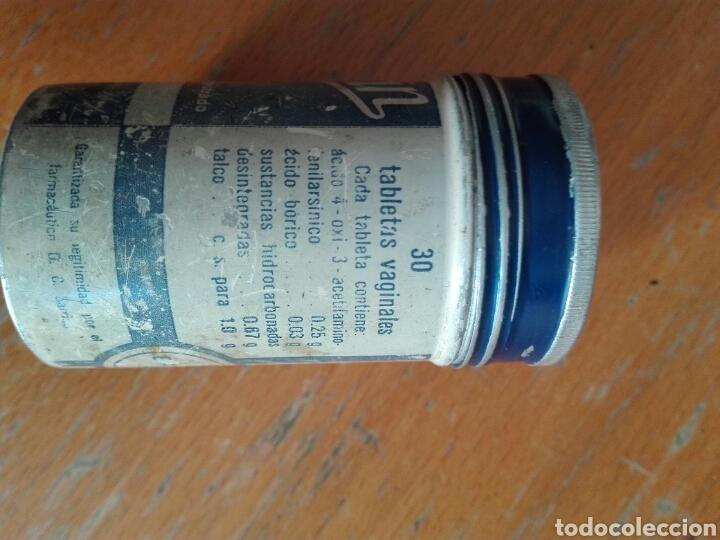 Cajas y cajitas metálicas: BOTE ALUMINIO METÁLICA BAYER TABLETAS VAGINALES - Foto 4 - 195354040
