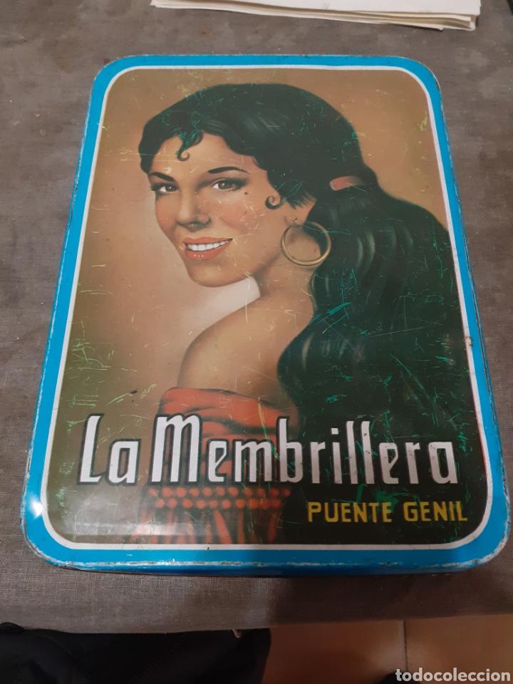CAJA METÁLICA LA MEMBRILLERA (Coleccionismo - Cajas y Cajitas Metálicas)