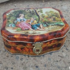 Cajas y cajitas metálicas: CAJA JOYERO DE LATA.. Lote 195427861