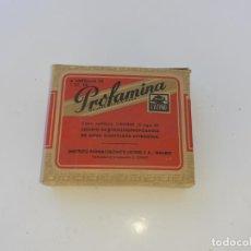 Cajas y cajitas metálicas: CAJA DE FARMACIA PROFANINA LAB. INST. LATINO // SIN DESPRECINTAR. Lote 195438818