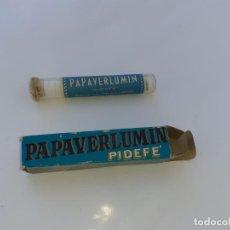 Cajas y cajitas metálicas: CAJA DE FARMACIA PAPAVERLUMIN LAB. PIDEFE PAPAVERINA // SIN DESPRECINTAR. Lote 195438855