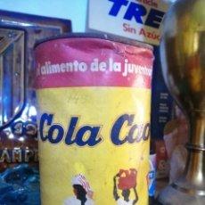 Cajas y cajitas metálicas: BOTE COLA CAO JUEGOS MUNICH. Lote 195465015