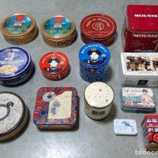 Cajas y cajitas metálicas: LOTE 14 CAJAS METÁLICAS DE METAL PASTAS GALLETAS. Lote 195503730
