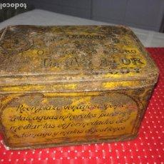 Cajas y cajitas metálicas: CAJA METÁLICA BICARBONATO DE SOSA - DR. MONLLOR - ALCOY ( ALICANTE ). Lote 195503850