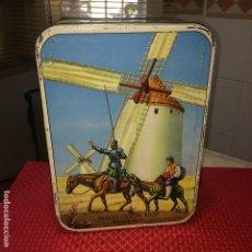 Cajas y cajitas metálicas: MIGUEL CHACON RIVAS - PUENTE GENIL ( CÓRDOBA ) - LATA DULCE DE MEMBRILLO - CAMPAÑA 1962/63. Lote 195530617