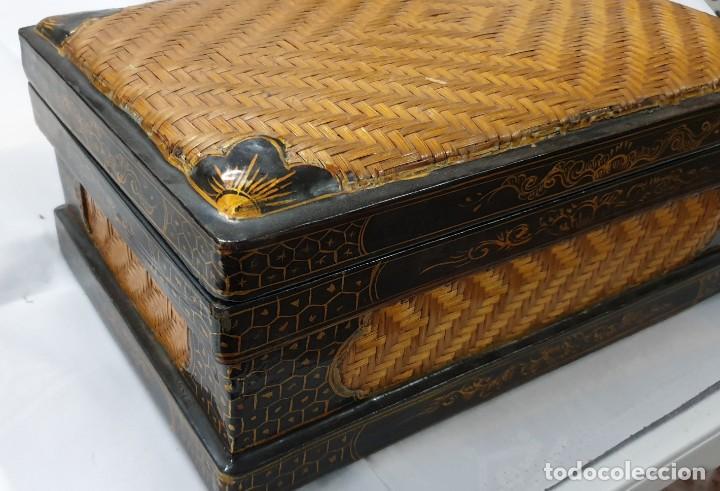 Cajas y cajitas metálicas: Caja china de madera - Foto 2 - 195759401