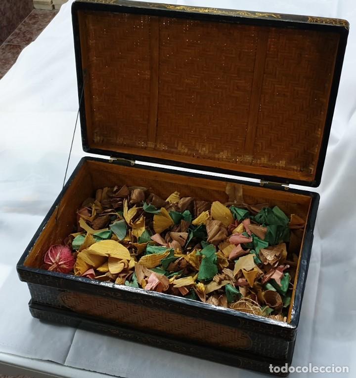 Cajas y cajitas metálicas: Caja china de madera - Foto 3 - 195759401