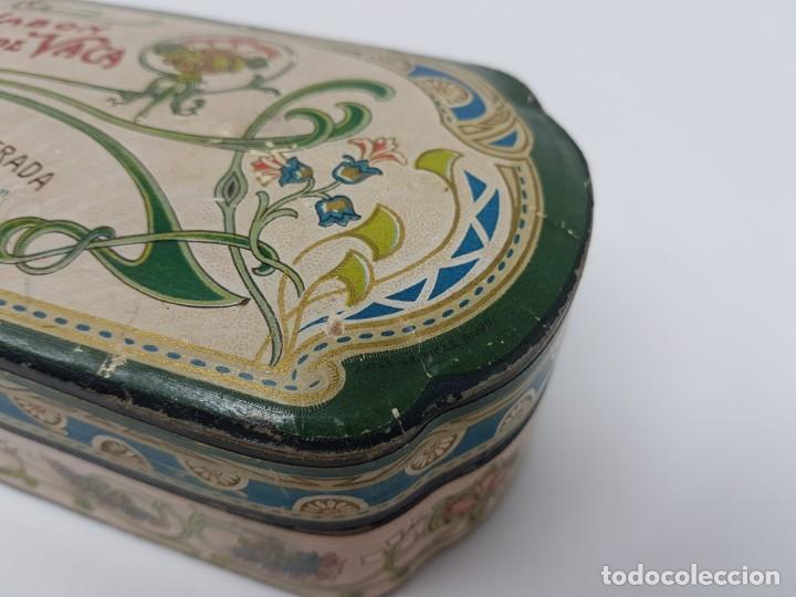 Cajas y cajitas metálicas: ANTIGUA CAJA DE CARTON LA GIRALDA ( JABÓN HIEL DE VACA ) AÑOS 20 - Foto 4 - 195887321