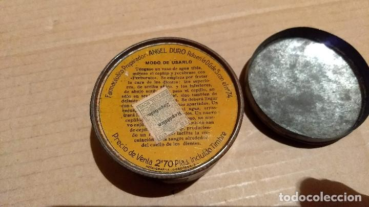 Cajas y cajitas metálicas: Caja redonda de hojalata, Perborato Laceda. Baracaldo (Bilbao) - Foto 3 - 197134827