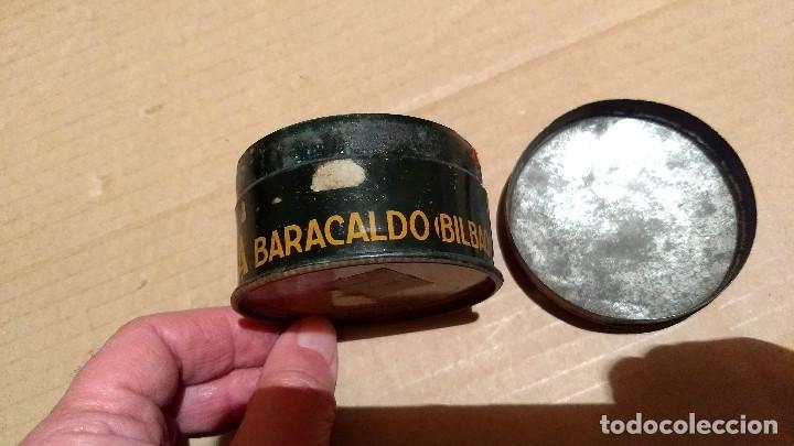Cajas y cajitas metálicas: Caja redonda de hojalata, Perborato Laceda. Baracaldo (Bilbao) - Foto 6 - 197134827