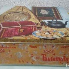 Cajas y cajitas metálicas: CAJA METÁLICA DE GALLETAS FONTANEDA. Lote 197203663