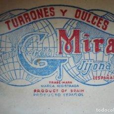 Cajas y cajitas metálicas: ANTIGUA CAJITA DE MADERA TURRONES Y DULCES CASA MIRA. Lote 197427280