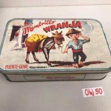 Cajas y cajitas metálicas: ANTIGUA CAJA METÁLICA. Lote 197567007