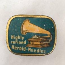 Cajas y cajitas metálicas: HEROLD ANTIGUA CAJITA AGUJAS GRAMÓFONO. Lote 197821072