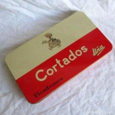 Boîtes et petites boîtes métalliques: CAJA METÁLICA DE BOMBONES CORTADOS UÑA VALLADOLID. Lote 198042593
