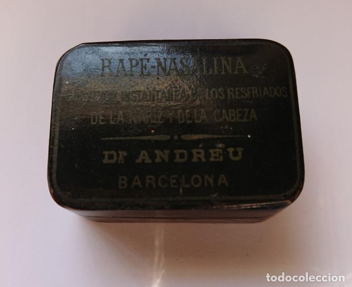 Cajas y cajitas metálicas: CAJA DE RAPE - NASALINA. DR. ANDREU. PAPIER MACHE - Foto 2 - 198043907