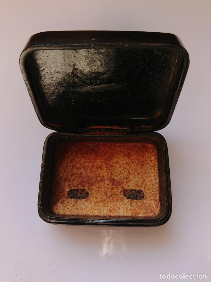 Cajas y cajitas metálicas: CAJA DE RAPE - NASALINA. DR. ANDREU. PAPIER MACHE - Foto 3 - 198043907
