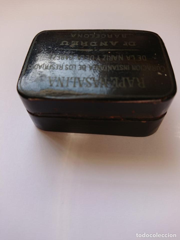 Cajas y cajitas metálicas: CAJA DE RAPE - NASALINA. DR. ANDREU. PAPIER MACHE - Foto 4 - 198043907