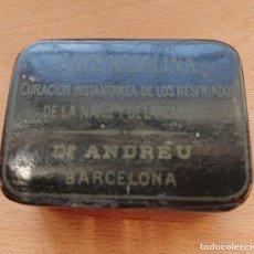 Cajas y cajitas metálicas: CAJA DE RAPE - NASALINA. DR. ANDREU. PAPIER MACHE. Lote 198043907