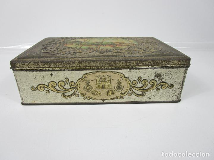 Cajas y cajitas metálicas: Antigua Caja Metálica - Dulcería Tuyarro - Sucs de Francisco Trias, Santa Coloma de Farnés - Romería - Foto 2 - 198384837