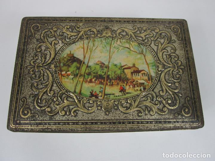 Cajas y cajitas metálicas: Antigua Caja Metálica - Dulcería Tuyarro - Sucs de Francisco Trias, Santa Coloma de Farnés - Romería - Foto 3 - 198384837