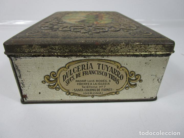 Cajas y cajitas metálicas: Antigua Caja Metálica - Dulcería Tuyarro - Sucs de Francisco Trias, Santa Coloma de Farnés - Romería - Foto 5 - 198384837